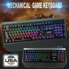 Us 104 Key Usb Wired Mechanical 6 Backlight Gaming Keyboard for Pc Laptop Dr