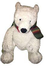 Flurrie Polar Bear Christmas Winter Bear Plush With Scarf New Nwot 14�