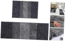 """2 Pieces Soft Bath Mat Sets Machine Washable Bathroom Rug 18""""x26""""+18""""x48"""" Grey"""