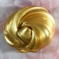 "SCENTED Slime Shiny ""Gold"" Clear Stretchy Thick 2 4 6 8 oz Size Scent Handmade"