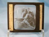 Magic Lantern Glass Slide Man Weeping With Legs Crossed & Cane Grand Despair (O)