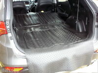 3pc modular rubber boot liner load mat bumper protector Hyundai Santa Fe MK III