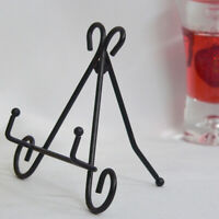 Iron Easel Plate Display Art Picture Photo Holder Stand Artwork Home Decoration