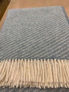 100%wool throw British woven - Abraham Moon MILL SHOP