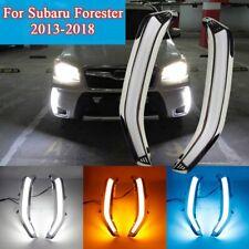 2x DRL LED Daytime Running Light Turn Signal Lamp For Subaru Forester 2013-2018