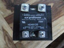 halbleiterrelais crydom 125A 400V Triac thyristor Kühlkörper HD48125