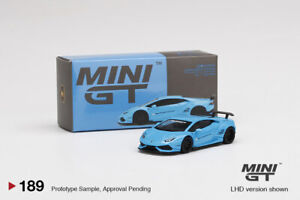 MINI GT 1:64  LB Works Lamborghini Huracan V1 Light Blue