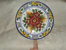 1 BEAUTIFUL Decorative MAJOLICA Hanging PLATE Hand Painted Unknown Maker