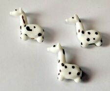 3 Graceful Black White Giraffes Lampwork Glass Beads 27mm by 18mm