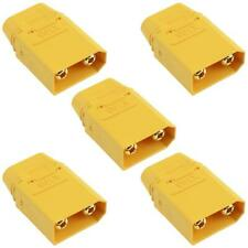5 x Male XT90 Gold Plated Connector with Cap 40A Amass