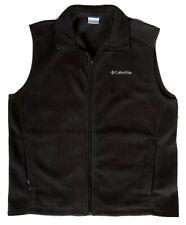 Columbia Fleece Vest Boys L 14/16 Full Zip Black