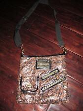 Betseyville Gold Sequin Purse Bag Handbag Betsey Johnson Animal Print Messenger