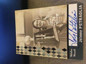 2009 PBA Bowling Autograph Milestone Moments Johnny Petraglia