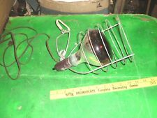 Vtg wire cage clamp on Lamp Spot Light Steampunk barn poultry heat lamp shop