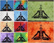 indisk syv chakra bomuld yoga mat plakat tapetry etnisk væg hængende indretning
