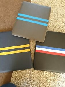 Foxx Smith LONDON Vegan Leather Luca Stripe DOCUMENT TABLET SKETCH PAD SEE PICS