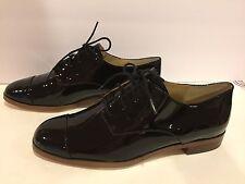 Michael Kors Pierce Women's Oxford Lace Up Patent Leather Black 6 M $150