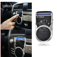 Solar Powered Bluetooth Hands Free Car Kit Speaker Phone Caller LCD Display crb
