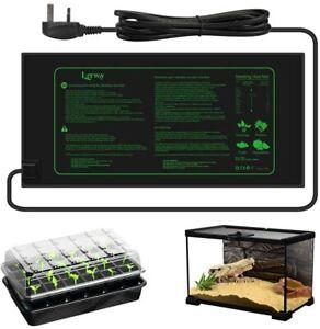 Seedling Heating Mat 21W Greenhouse Heat Propagator Plant Seed Vivarium Heat Pad