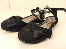 Kenneth Cole Reaction Sweet Gleam 2 Girls Black Dress Shoe TOD Size 8