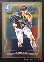 Trevor Story 2020 Topps Gypsy Queen SP Chrome Colorado Rockies Baseball Card#111