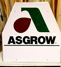 Authentic Asgrow Advertisement Metal Sign - NOT a Reproduction