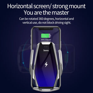 HOCO Qi Wireless Car Charger Automatic Infrared Clip Air Vent Mount Car Phone Ho