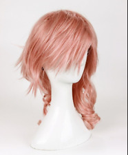 Hot Sell! Final Fantasy Lightning Wig Srah Wig New Long Mix Pink Cosplay Wig