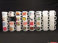 Lot 32 Asst Glasbake Federal Coffee Mugs Cups Milk Glass Texas Flowers Superstar
