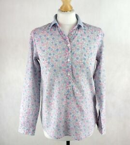 Womens JOULES Casual Loose fit Floral Shirt Size UK 8 EU36 Button-up Green Pink