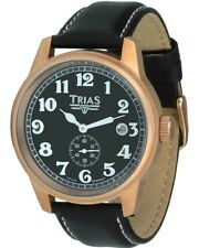 Trias Watches - Military Wristwatch -automatikuhr - Steel Ip Rose Gold - Aviator