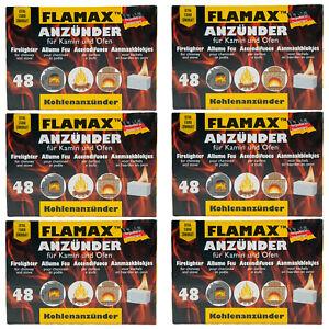 Grillanzünder FLAMAX 6 x 48 Würfel weiß Sommer BBQ Grill weiße Grillanzünder
