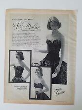 704dfdad72 1956 women s Lady Marlene black lace by AMETEX long line bra vintage ad