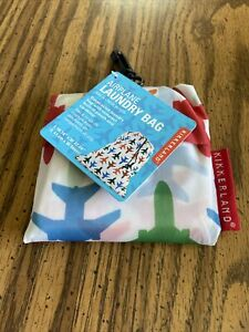 kikkerland TRAVEL AIRPLANE PLANE Washable Laundry Bag 100% Polyester LB06AV