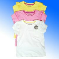 Girls Cotton T-Shirt Store Group 3 Pack  rrp £7.50 Age 1 -8 Years NEW
