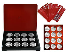 Australian 2008-19 Lunar Series II 2oz Silver Proof 12-Coin Collection Mtg.1000!
