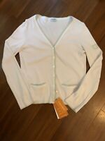 Authentic Chanel Cardigan Pink Logo On Sleeve Size 38 M