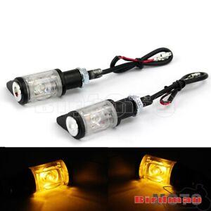 Pair LED 12V Universal Motorcycle Turn Signal Blinker Indicator Light Lamp Amber