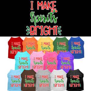 I Make Spirits Bright Dog Shirt Pet Clothing Christmas Apparel