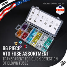 96pc Blade Fuse Assortment Auto Car Truck Motorcycle FUSES Kit ATC ATO ATM NEW