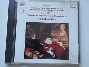 MICHAEL PONTI <>  Liszt / Brahms - Piano  <> NM (CD)