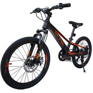 7 Speed WTVA 14inch Black-Orange Child Bike Mountain Bicycle Kids Bike For Boys
