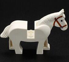 Lego White Horse Black Eyes Castle Western 4493c01pb04