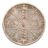 KM# 763 - Double Florin - 4 Shillings - Victoria - Great Britain 1890 (Fair)