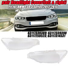 For BMW 3 F30 / F31 Clear Headlight Cover Headlamp Lens Lenses Transparent