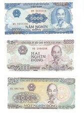 Vietnam - 10,000, 5000, 2000, 1000, 500, 200 Dong, 1987-1991 !Unc!