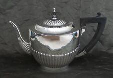 Beautiful Art Deco British Sterling Silver & Ebony Handle Teapot, Poston Co.