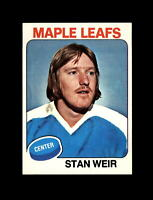 1975-76 Topps Hockey #132 Stan Weir (Maple Leafs) NM-MT