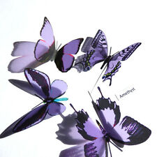 100 Pack Butterflies - Amethyst - 5 to 6 cm - Topper, Weddings, Crafts, Cards,