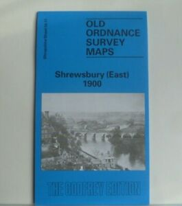 OLD ORDNANCE  SURVEY MAP SHREWSBURY EAST SHROPSHIRE 1900 Special Offer